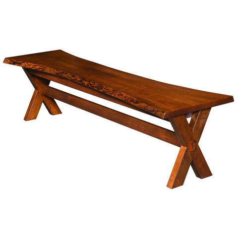 Frontier Live Edge Bench - Amish Tables  - 1