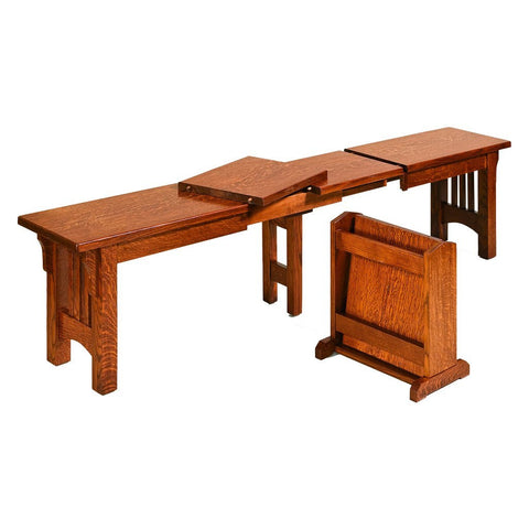 Mission Extendable Bench - Amish Tables  - 1