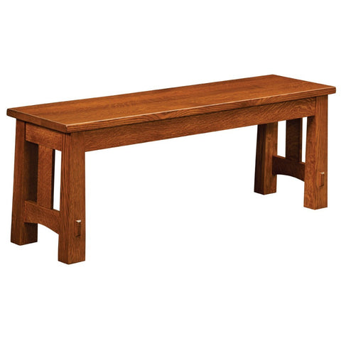 Modesto Extendable Bench - Amish Tables  - 1