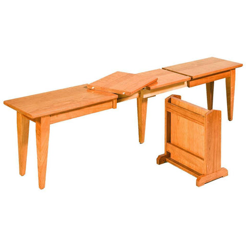 Shelby Extendable Bench - Amish Tables  - 1