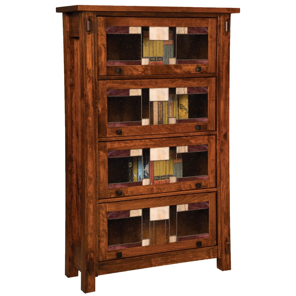 Craftsman barister bookcase amish solid wood bookcase for Craftsman style bookcase plans