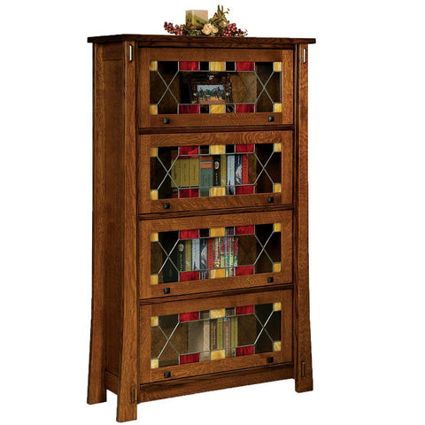 Modesto Barister Bookcase - Amish Tables  - 1