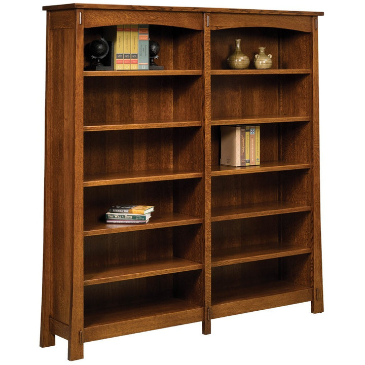 Modesto Double Bookcase - Amish Tables  - 1