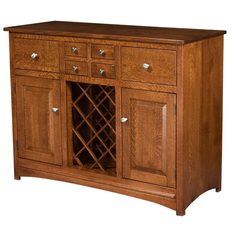 Lisa Wine Cabinet - Amish Tables  - 1