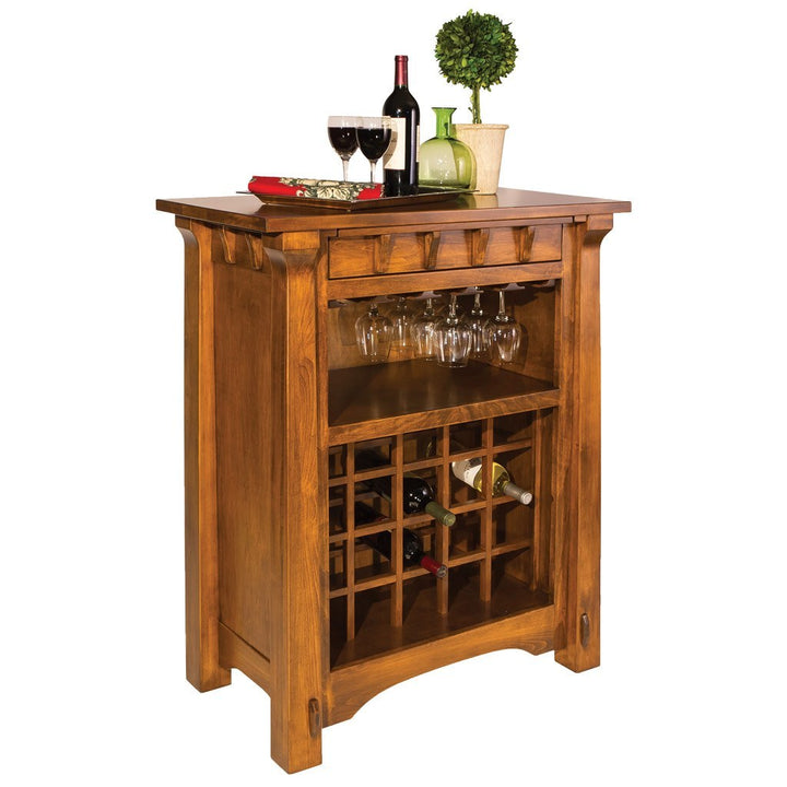 Manitoba Wine Cabinet - Amish Tables  - 1