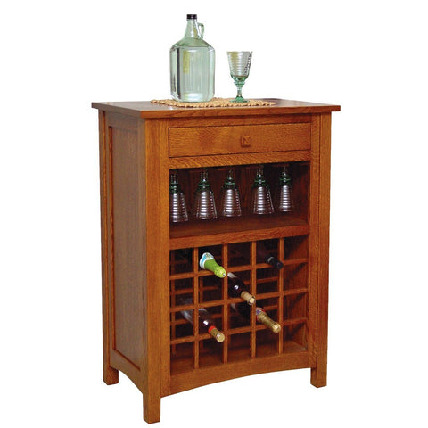 Noble Wine Cabinet - Amish Tables  - 1
