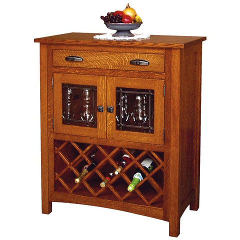 Regal Wine Cabinet - Amish Tables  - 1