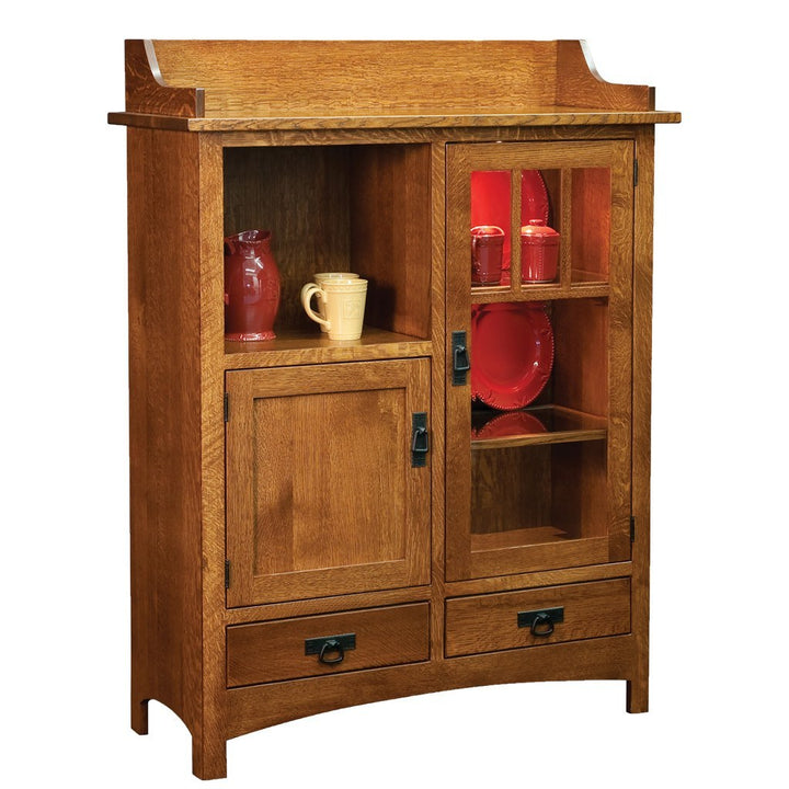 Pottery Cabinet Amish Cabinets And Bookcases Amish Tables
