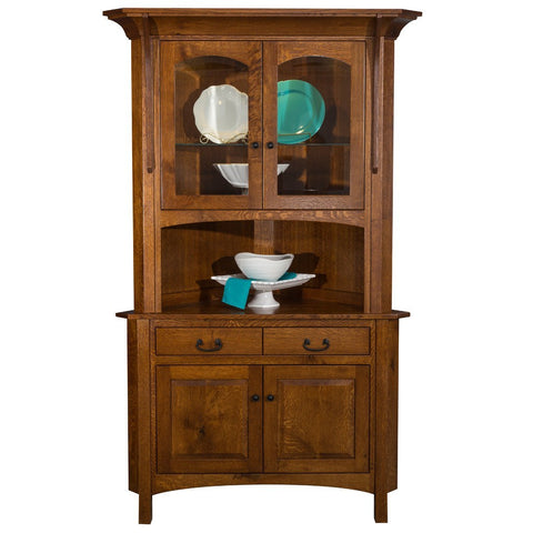 Breckenridge Corner Cabinet - Amish Tables  - 1