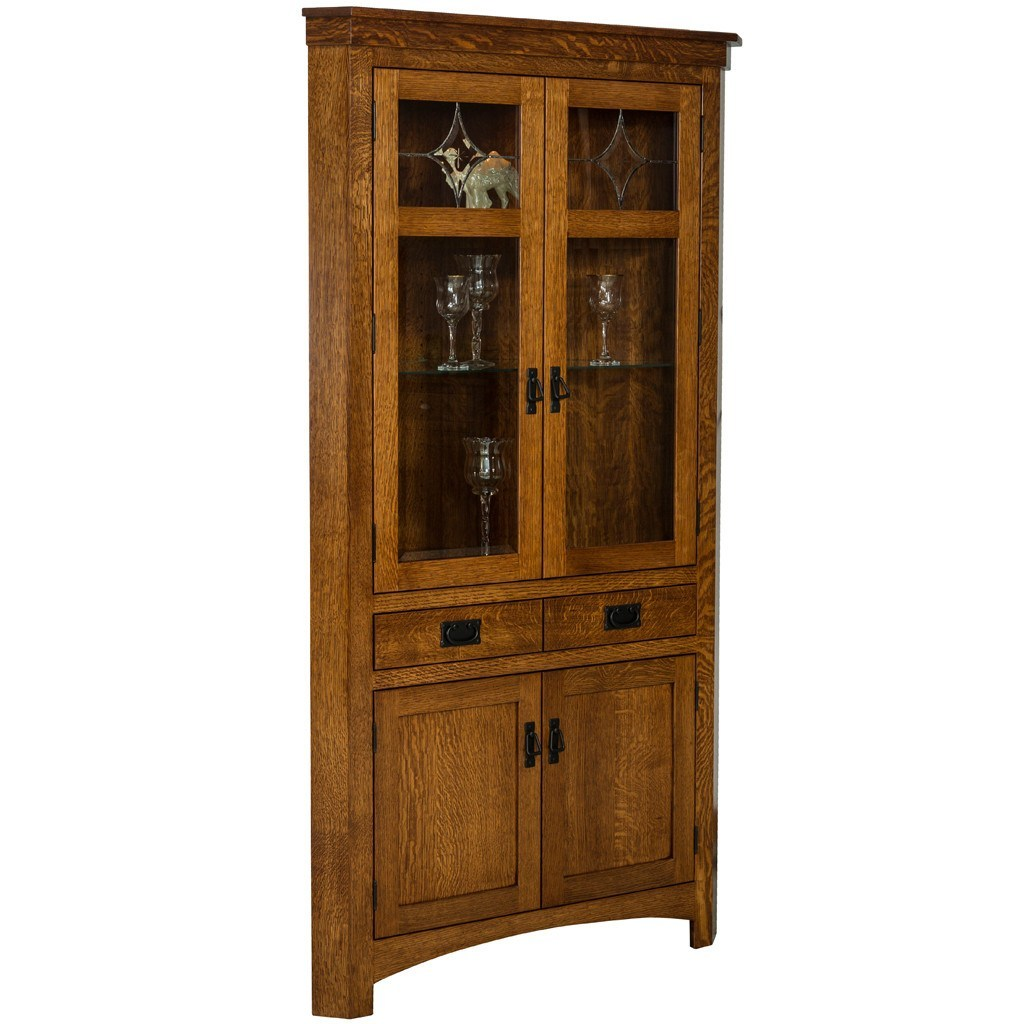Cape cod corner cabinet amish hutches and cabinets for Corner cabinet