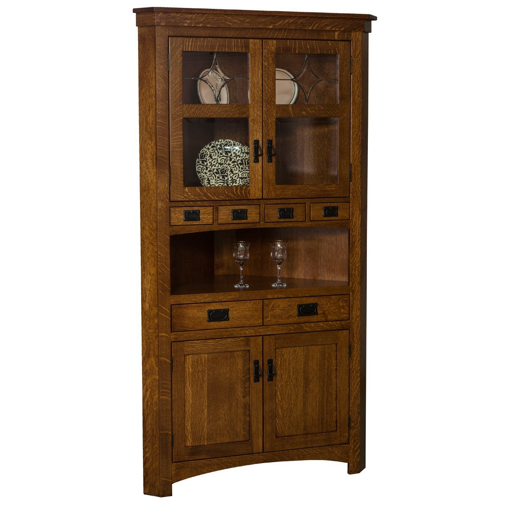 Corner Cabinet Dining Room Hutch: Amish Hutches And Cabinets – Amish Tables