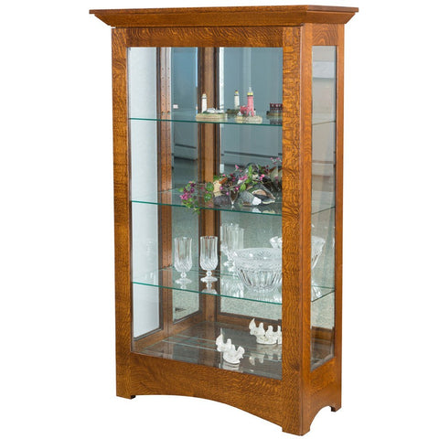 Leda Curio Cabinet - Amish Tables  - 1