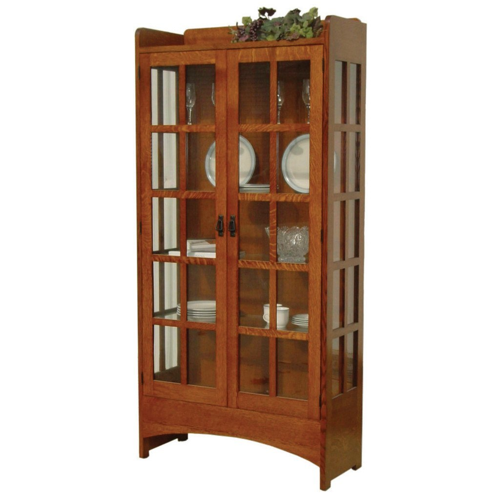 Mission Display Curio Cabinet | Amish Curio Cabinets – Amish Tables