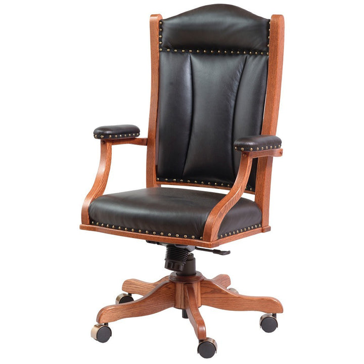 Desk Chair with Arms - Amish Tables  - 1