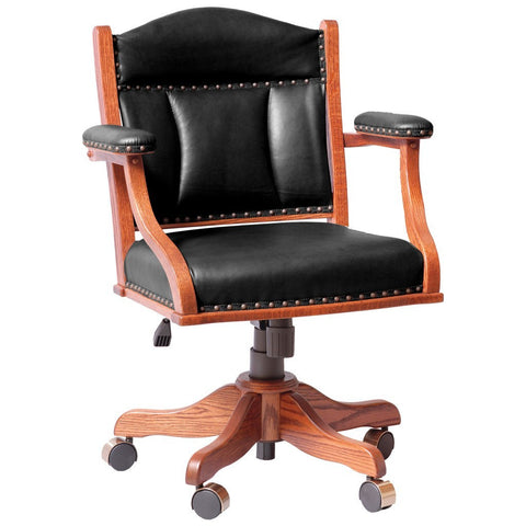 Low Back Desk Chair - Amish Tables  - 1