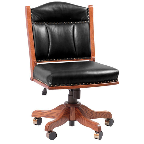 Low Back Side Desk Chair - Amish Tables  - 1