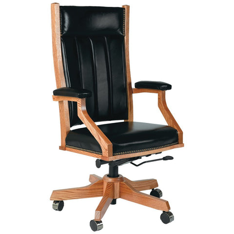 Mission Desk Chair - Amish Tables  - 1