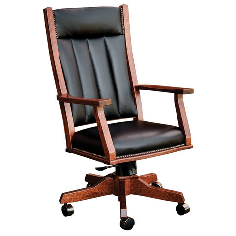 Mission Office Chair - Amish Tables  - 1