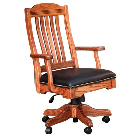 Royal Desk Arm Chair - Amish Tables  - 1