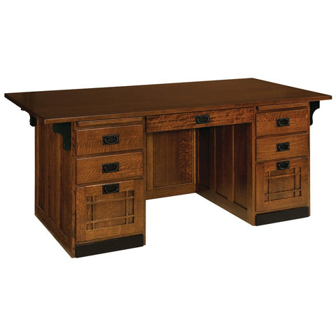 Executive Flat Top Desk - Amish Tables  - 1