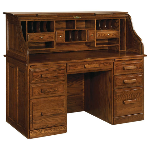 Farmers Roll Top Desk - Amish Tables  - 1