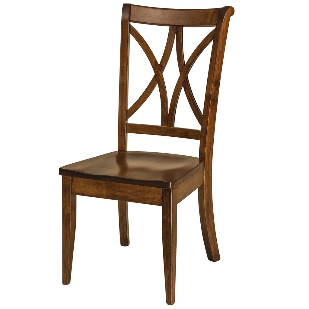 Callahan dining chair formal solid wood chairs amish for Formal dining chairs