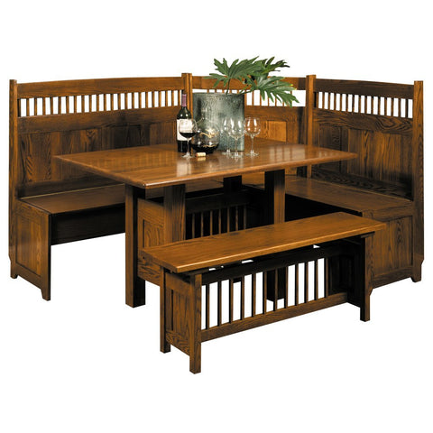 Classic Mission Dining Nook - Amish Tables  - 1