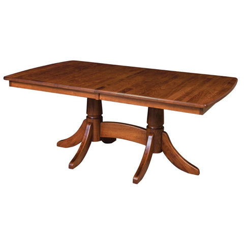 baytown double pedestal extension table tables for 14 or more   extendable dining tables   amish tables  rh   amishtables com