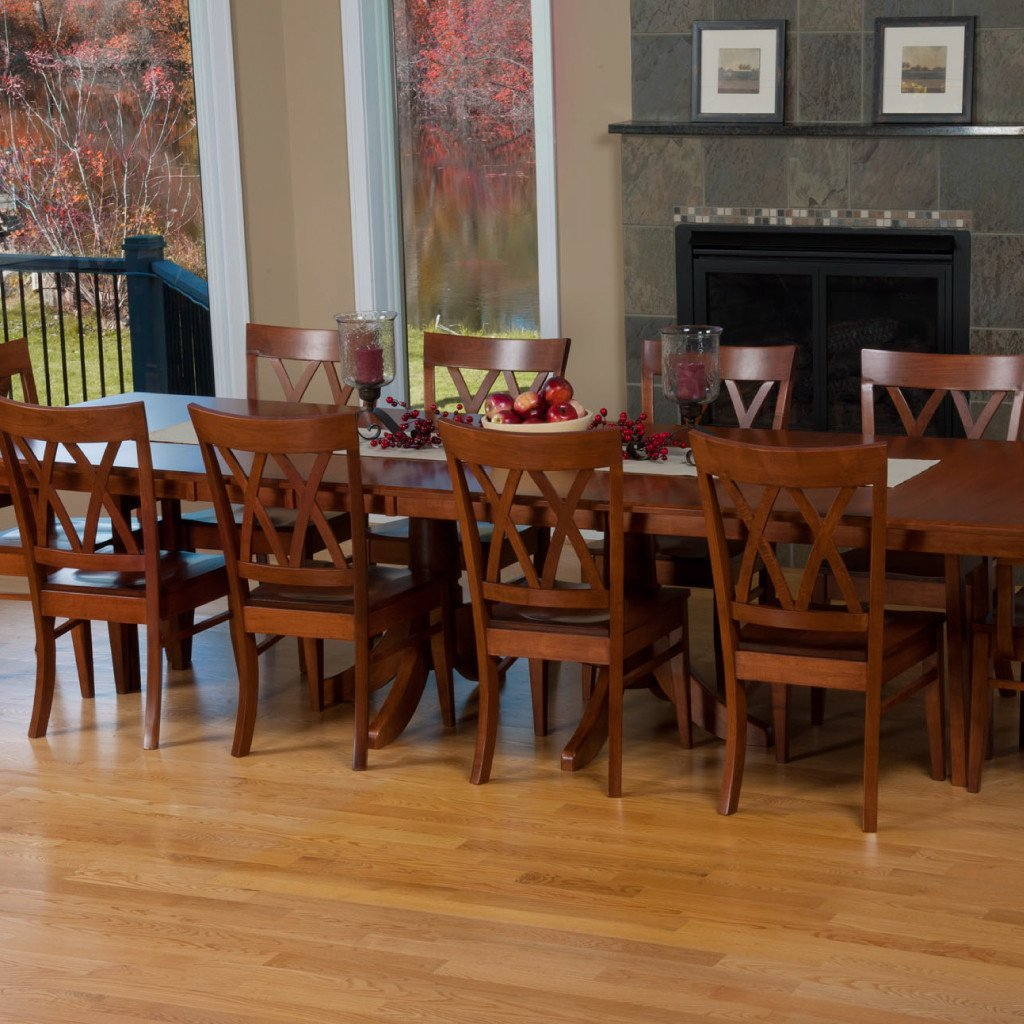 Baytown Double Pedestal Extension Table | Amish Tables