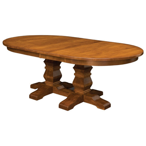 Bradbury Double Pedestal Extension Table - Amish Tables  - 1