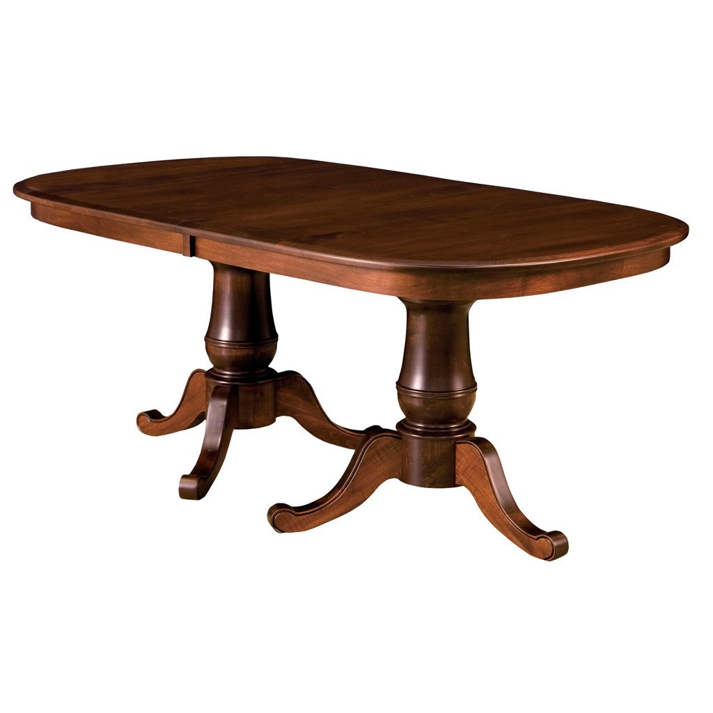 amish tables best selling solid wood dining furniture chancellor double pedestal extension table