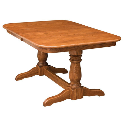Dutch Double Pedestal Extension Table - Amish Tables  - 1