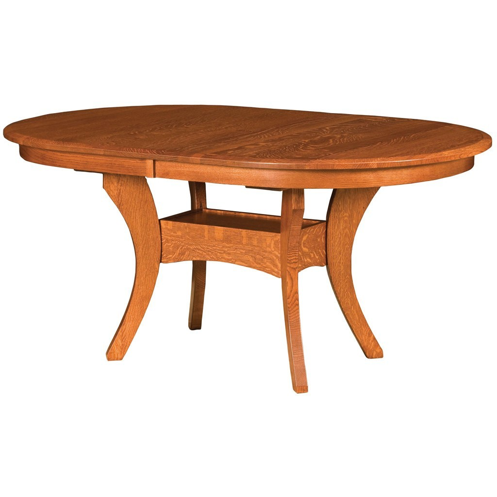 Imperial double pedestal extension table amish tables - Extension tables dining room furniture ...