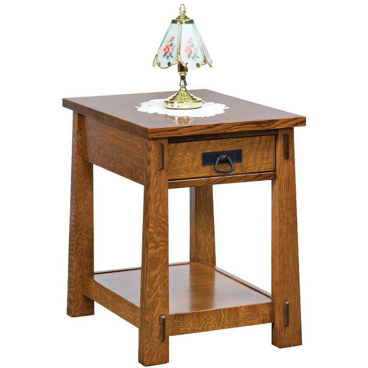 Modesto End Table - Amish Tables  - 1
