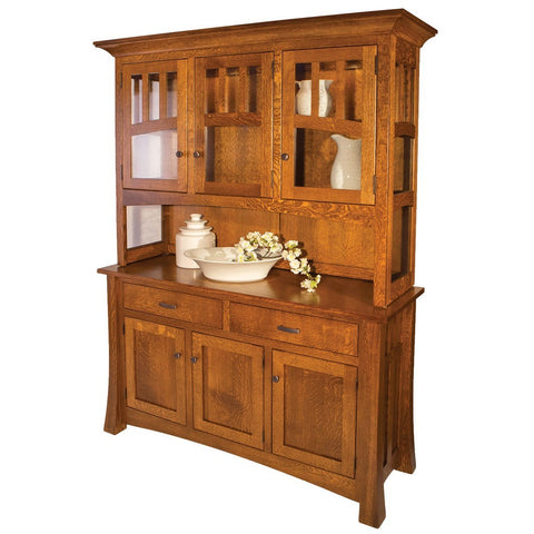Arlington Hutch Dining Room Storage  Solid Wood Hutches Buffets Amish Tables