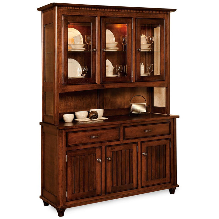 Dining Table And Hutch Set: Amish Hutches And Buffets – Amish Tables