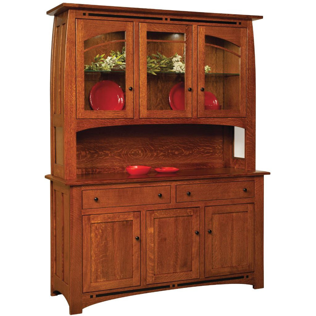 Boulder Creek Hutch | Amish Solid Wood Buffets and Hutches – Amish ...