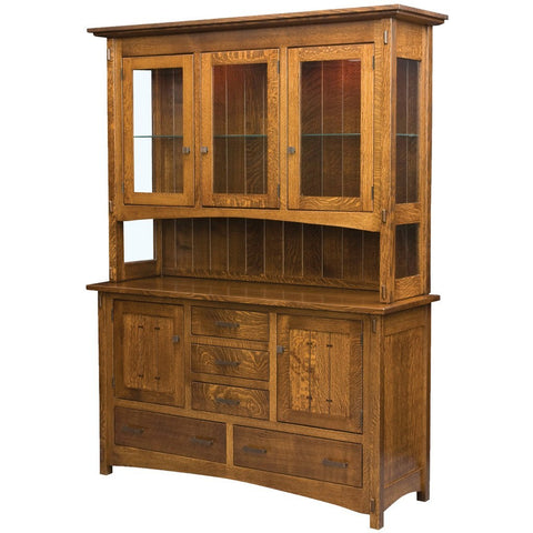 Crestline Hutch - Amish Tables  - 2