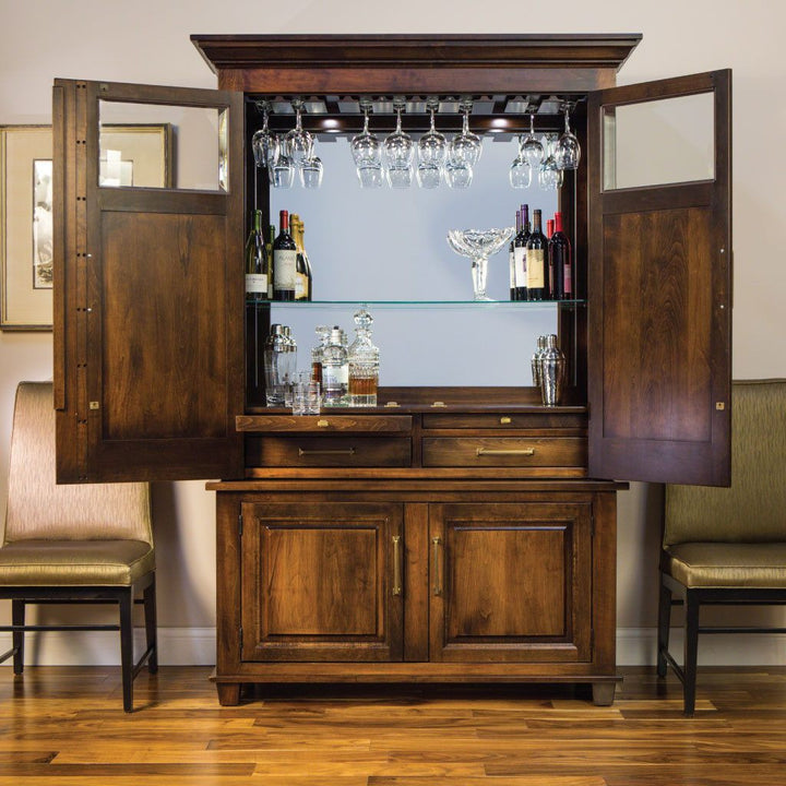 Imperial Wine Cabinet Amish Solid Wood Dining Storage