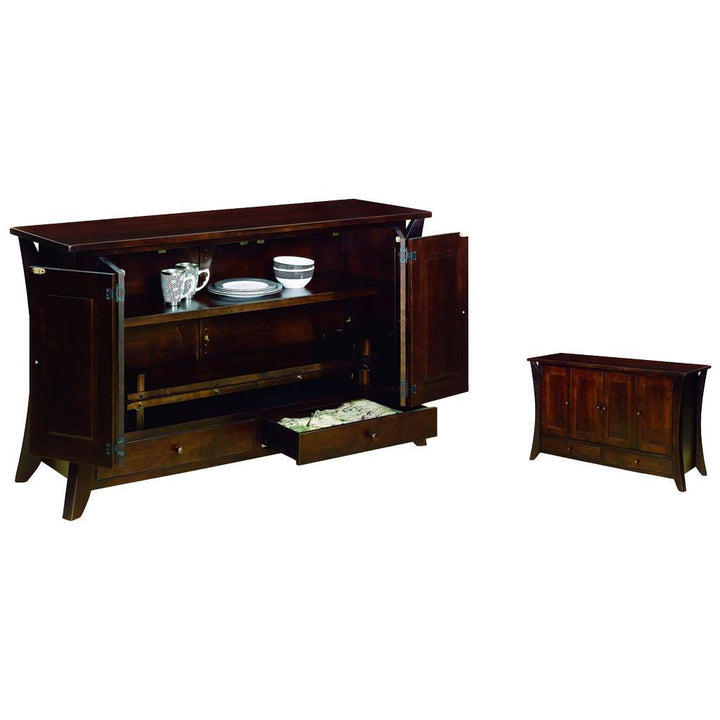 Caledonia Leaf Storage Cabinet - Amish Tables  - 1