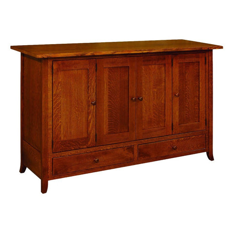 Shaker Hill Leaf Storage Cabinet - Amish Tables  - 1