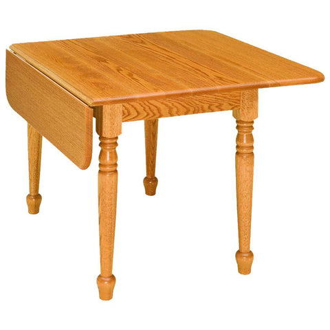 Drop Leaf Extension Leg Table - Amish Tables  - 1