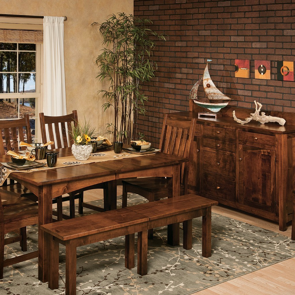 Heidi Leg Extension Table | Amish Dining Tables – Amish Tables