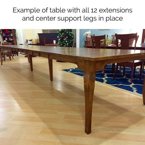 Shaker Mission Extension Table Amish Dining Tables Amish Tables