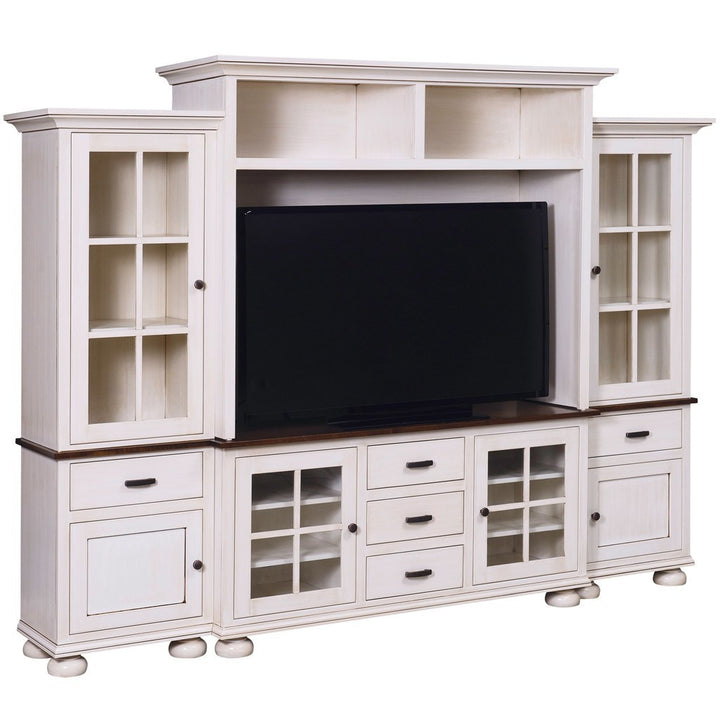 Kaitlyn Media Wall Unit - Amish Tables  - 1