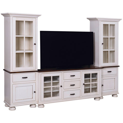 Kaitlyn Open Media Wall Unit - Amish Tables  - 1