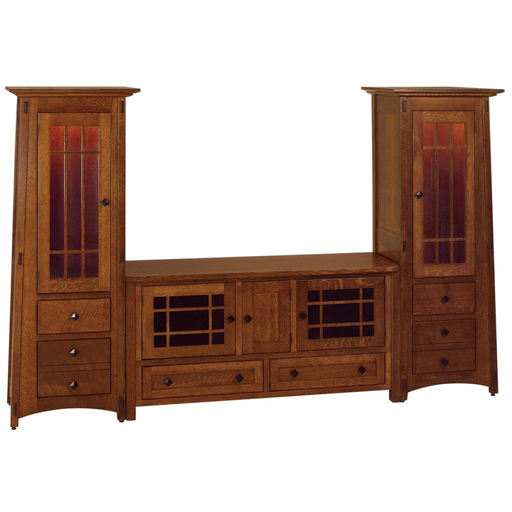 McCoy Media Wall Unit - Amish Tables  - 1