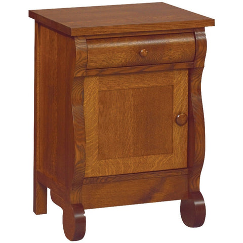 Old Classic Sleigh Nightstand - Amish Tables  - 1