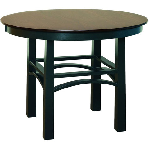 Artesa Single Pedestal Pub Table - Amish Tables  - 1