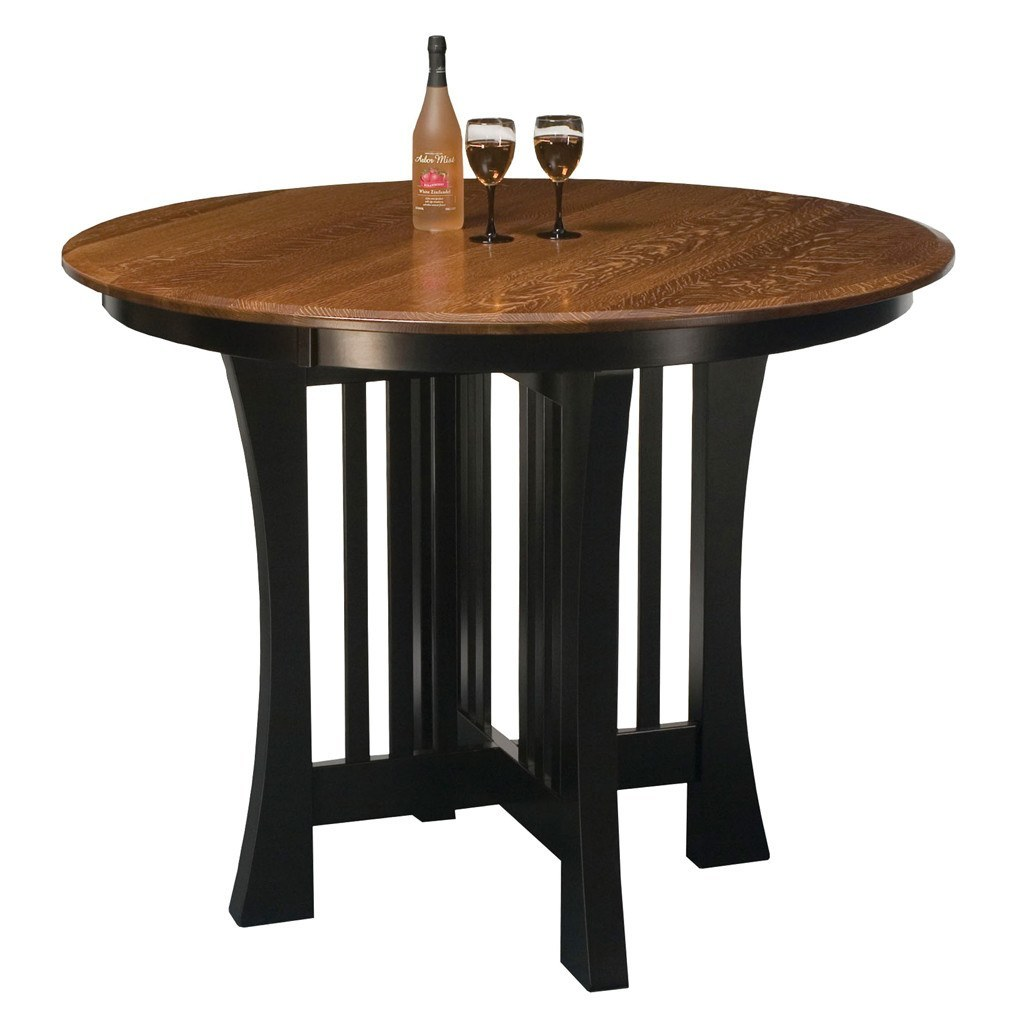 Arts crafts pub extension table amish pub tables for Table of tables